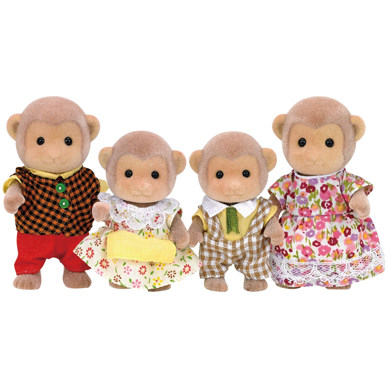 Toys For Family : Monkey family figures from sylvanian families wwsm