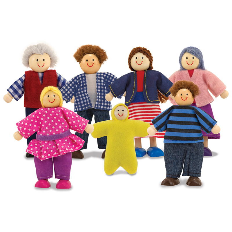 Toys For Family : Wooden doll family from melissa and doug wwsm